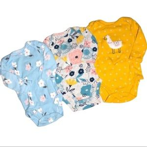 Carter's Baby Girl Long Sleeve Bodysuits Bundle